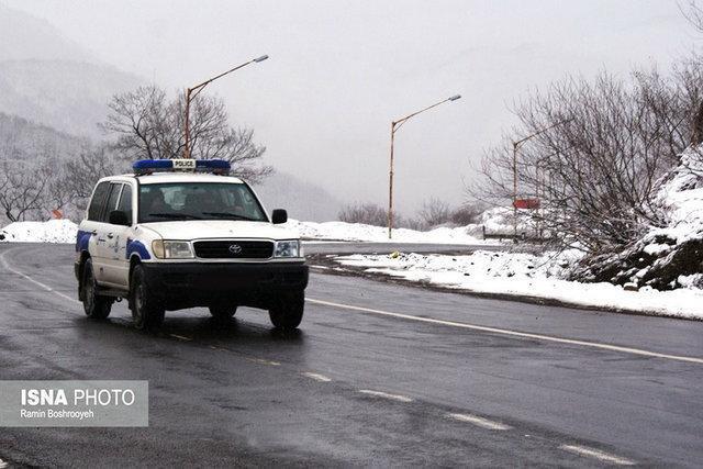 بارش برف در 6 محور اصلی سمنان، باز بودن همه محورهای استان