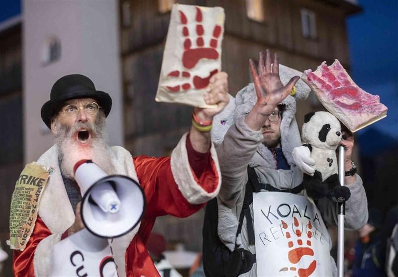 اعتراضات گسترده علیه کاپیتالیسم هم زمان با برگزاری اجلاس داووس