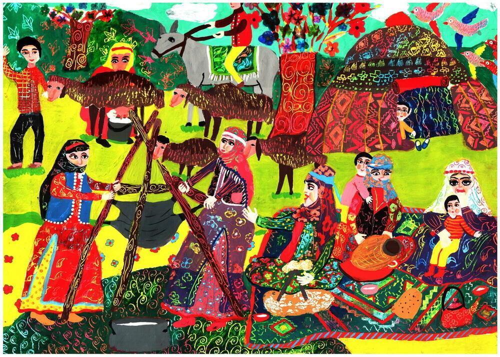 خبرنگاران دیپلم افتخار مسابقه نقاشی اسپانیا برای دو کودک ایرانی